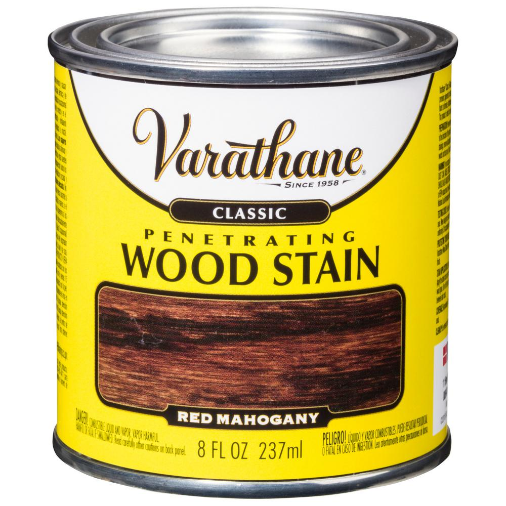 8 oz. Red Mahogany Classic Wood Interior Stain (4-Pack)