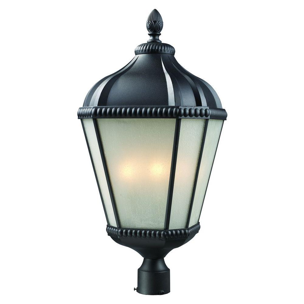 Lawrence 4-Light Outdoor Black Incandescent Post Light