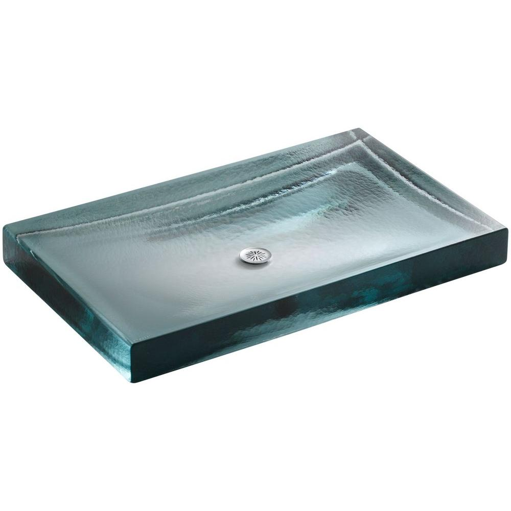 Delicieux KOHLER Antilia Wading Pool Self Rimming Bathroom Sink In Ice
