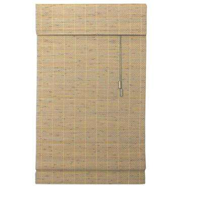 Driftwood Beveled Reed Weave Roman Shade