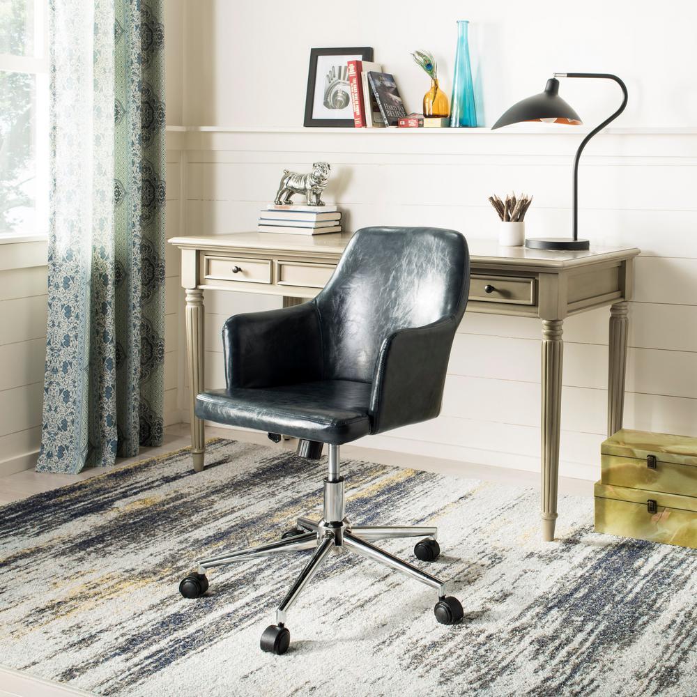 Cadence Dark Gray/Chrome Swivel Office Chair
