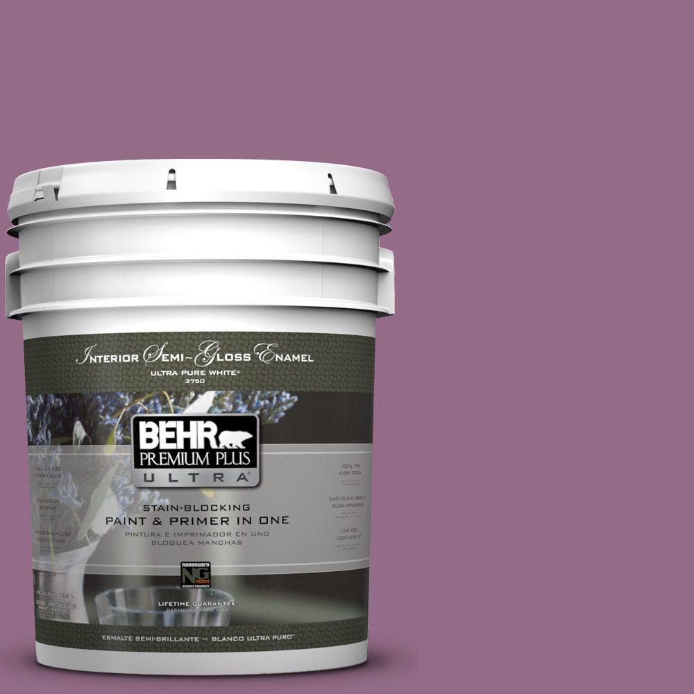 5-gal. #M110-6 Sophisticated Lilac Semi-Gloss Enamel Interior Paint