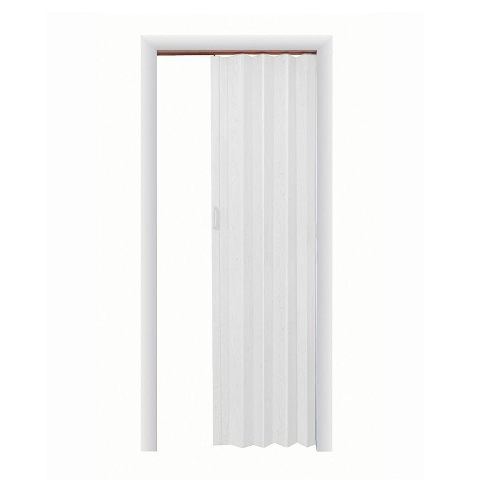 Spectrum 48 In X 96 In Express One Vinyl White Accordion Door