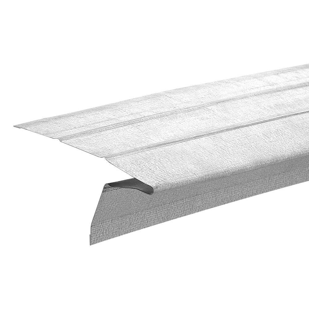 Gibraltar Building Products 2-3/8 in. x 1 in. x 10 ft. Galvanized Steel Eave Drip Flashing