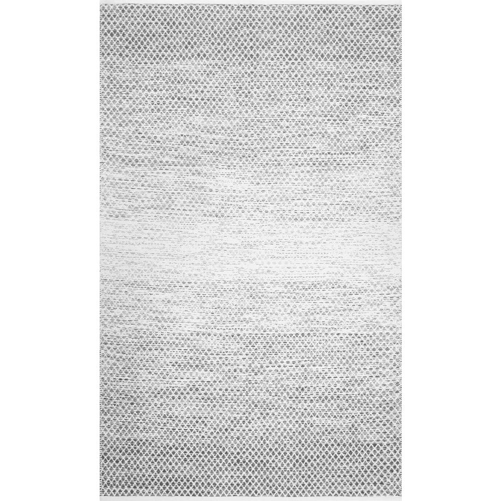 Nuloom Black And White Rug: NuLOOM Kimbrell Trellis Reversible Black And White 8 Ft. X