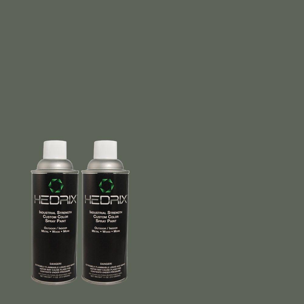 Hedrix 11 oz. Match of PPU12-20 Underwater Flat Custom Spray Paint (8-Pack)