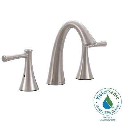 Venue 8 in. Widespread 2-Handle High Arc Bathroom Faucet in Brushed Nickel
