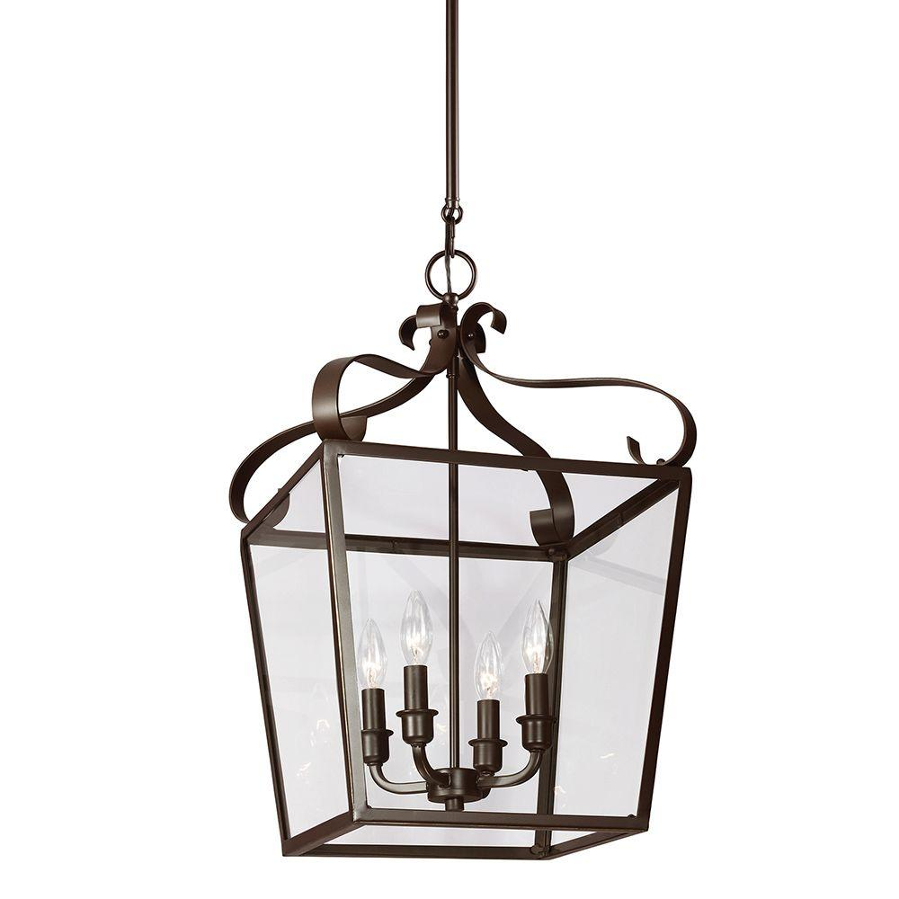 Foyer Lighting Lantern : Sea gull lighting lockheart in w light heirloom