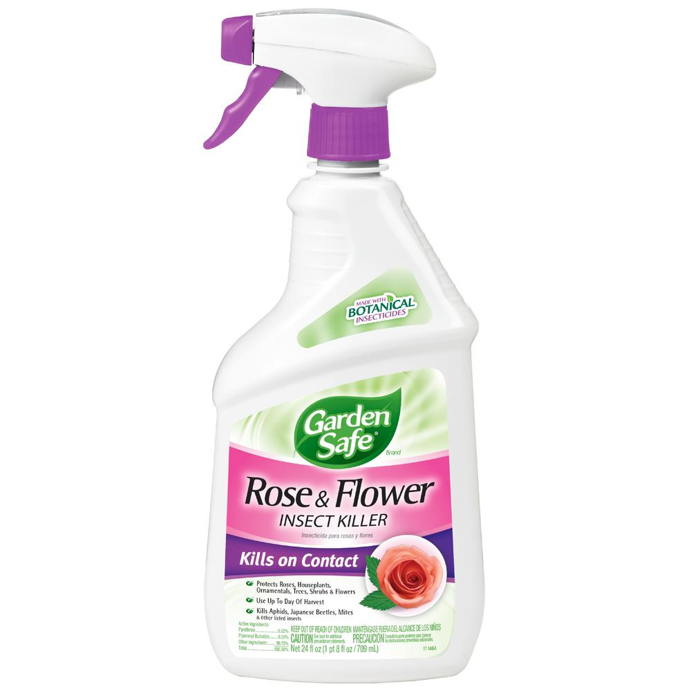 Garden Safe 24 oz. Rose and Flower Insect Spray Ready-to-Use