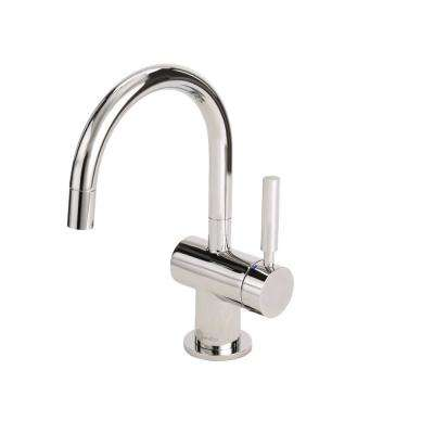 Indulge Modern Single-Handle Instant Hot and Cold Water Dispenser Faucet in Polished Nickel