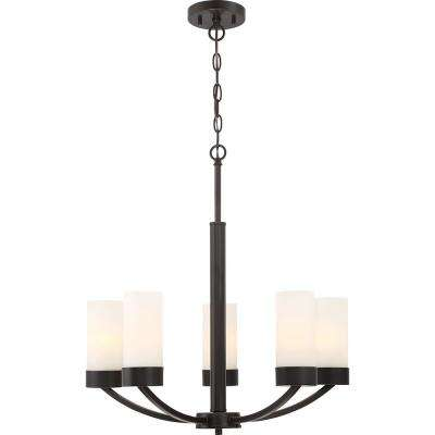 5-Light Mahogany Bronze Chandelier