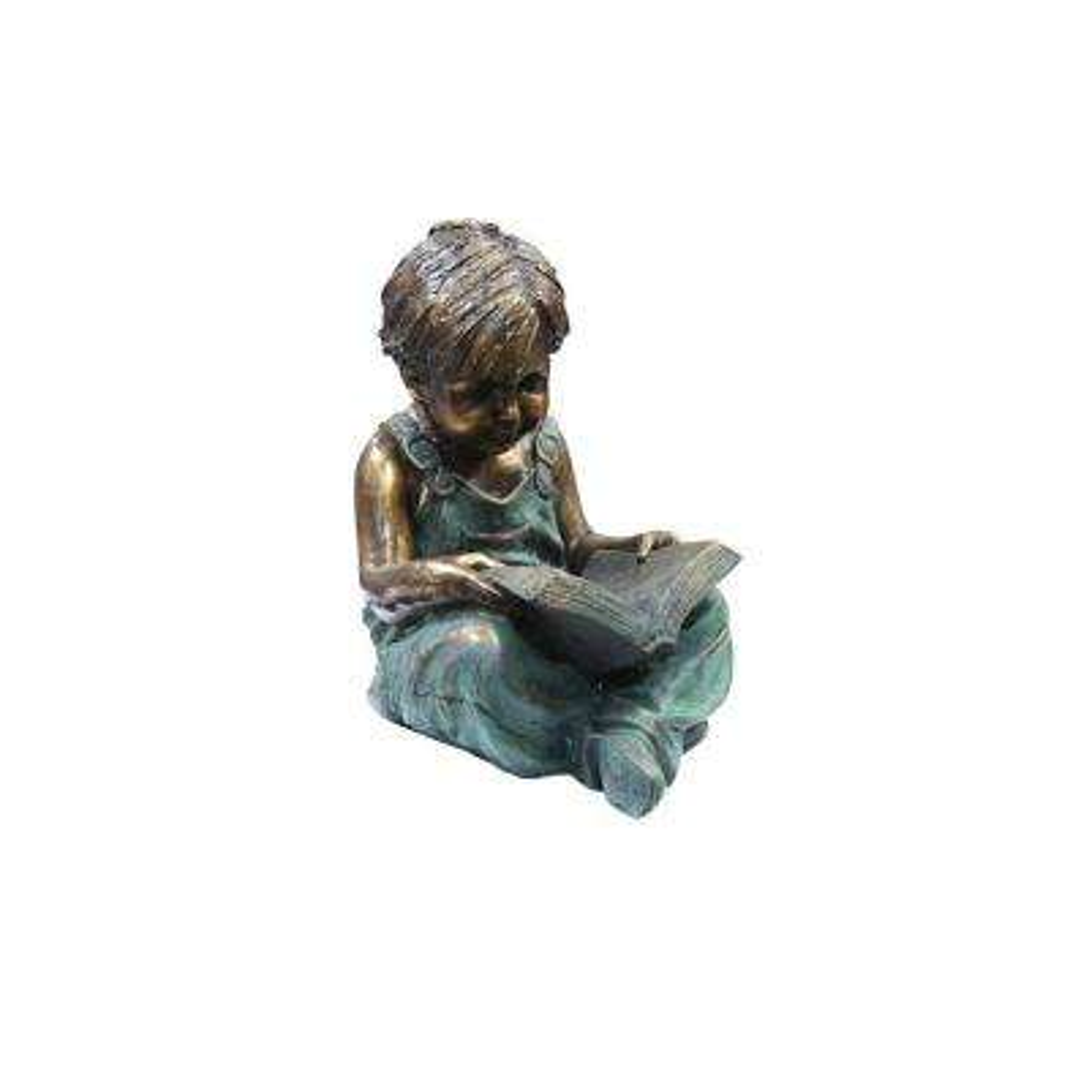 Boy Sitting Down Reading Book Statue