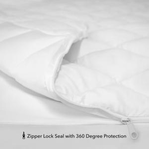 "2/"" QUEEN ANTIMICROBIAL ZIPPERED TOPPER COVER"