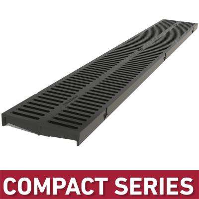 Compact Series Black Replacement Grate to suit 5 4 in  W x 3 2 in  D x 39 4  in  L Trench and Channel Drain