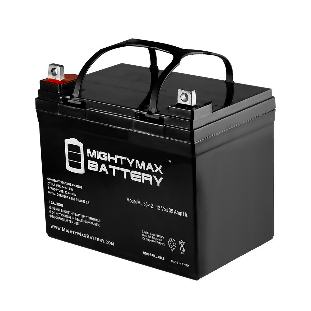Mighty Max Battery 12 Volt 35 Ah Sealed Lead Acid Sla Rechargeable