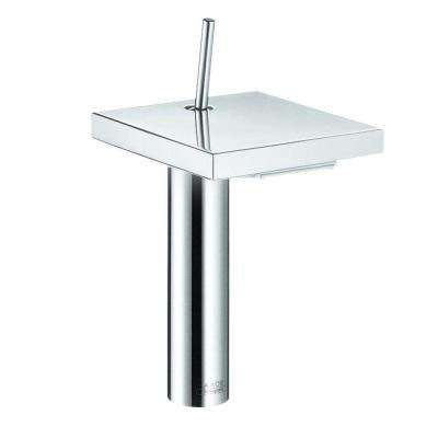 Axor Starck X Single Hole Single-Handle Bathroom Faucet in Chrome