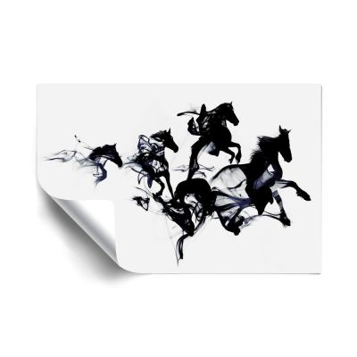 """""""Black Horses"""" Animals Removable Wall Mural"""