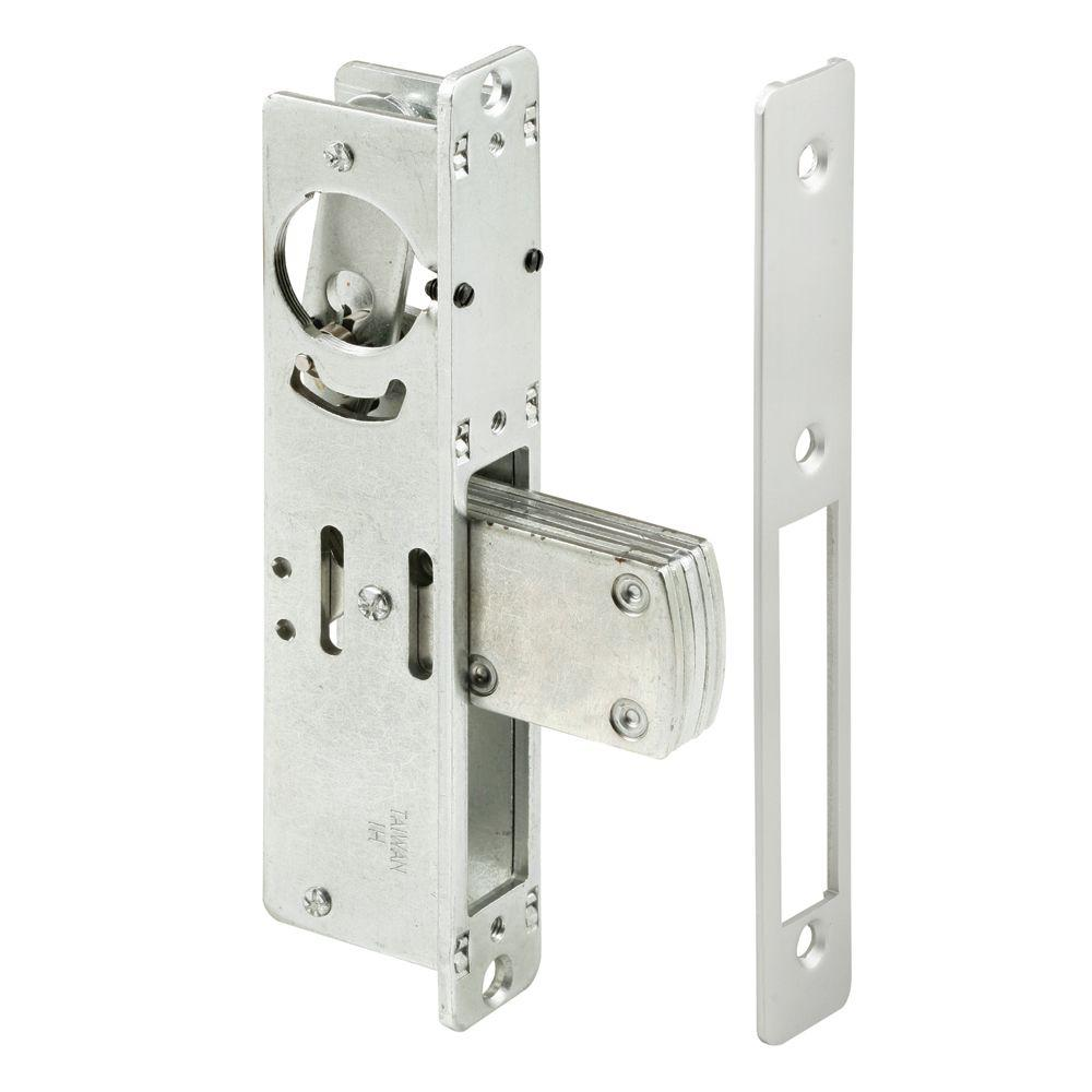 Exterior Door Locks : Prime line in backset aluminum finished steel entry