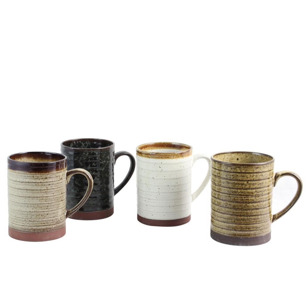 Terra Bella 18.5 oz. Assorted Colors Mug (Set of 4)