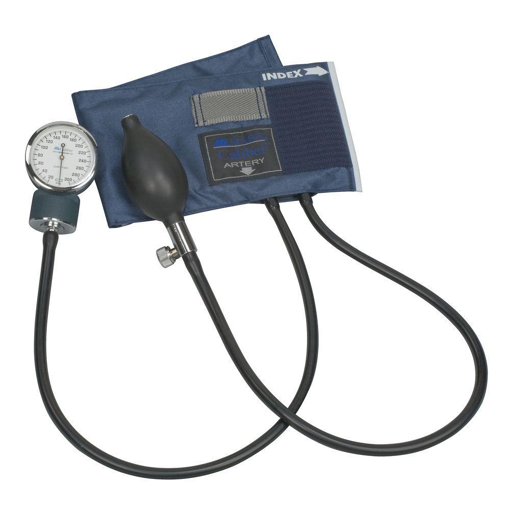 Caliber, Aneroid Sphygmomanometers with Blue Nylon Cuff