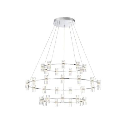 Netto 132-Watt Chrome Integrated LED Chandelier