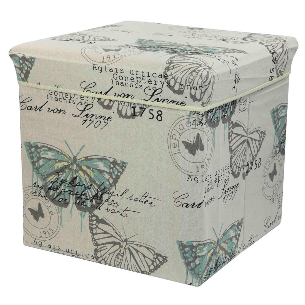 Butterfly Storage Ottoman