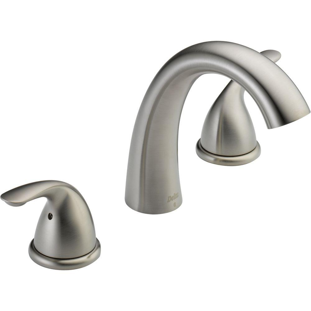 Beau Delta Classic 2 Handle Deck Mount Roman Tub Faucet Trim Kit In Stainless (