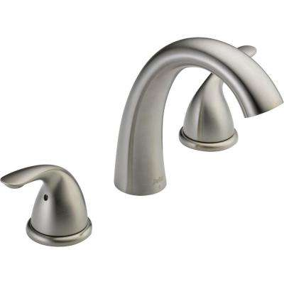 Classic 2-Handle Deck-Mount Roman Tub Faucet Trim Kit in Stainless (Valve Not Included)
