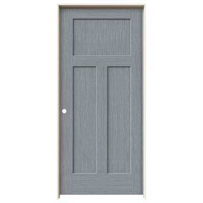36 in. x 80 in. Craftsman Stone Stain Right-Hand Solid Core Molded Composite MDF Single Prehung Interior Door