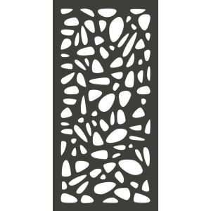 4 Ft X 2 Ft Charcoal Gray Modinex Decorative Composite
