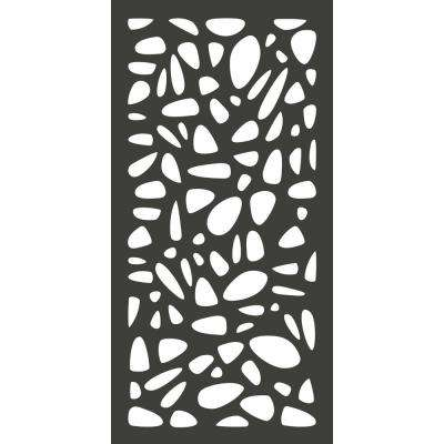 4 ft. x 2 ft. Charcoal Gray Modinex Decorative Composite Fence Panel in Pebbles Design