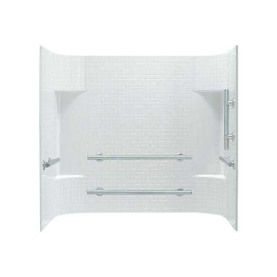 Accord 30 in. x 60 in. x 56.25 in. 3-Piece Direct-to-Stud Alcove Tub Surround in White
