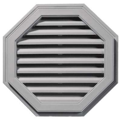 27 in. Octagon Gable Vent in Gray