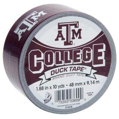 College 1-7/8 in. x 30 ft. Texas A and M Duct Tape (6-Pack)