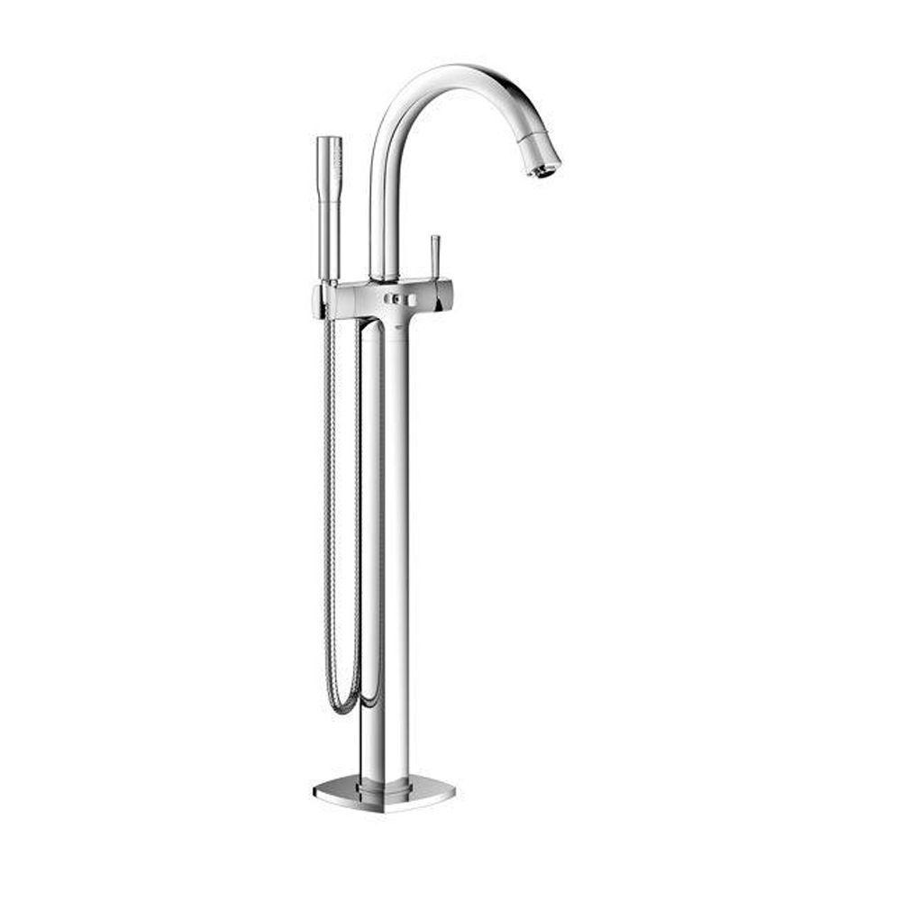 GROHE Grandera Single-Handle Floor Standing Roman Bathtub Faucet in StarLight Chrome