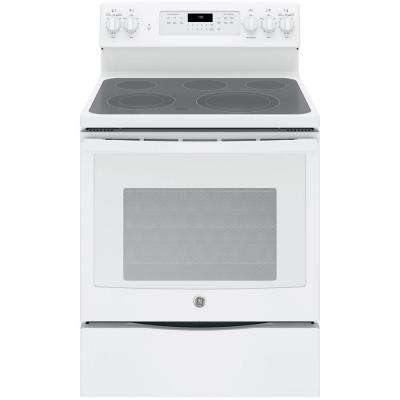 5.3 cu. ft. Electric Range with Self-Cleaning Convection Oven in White