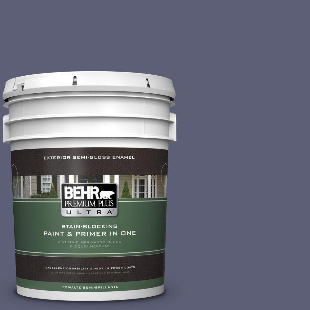BEHR Premium Plus Ultra 5-gal. #S560-6 Blue Blood Semi-Gloss Enamel Exterior Paint