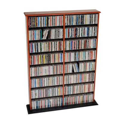 Cherry and Black Double Width Wall Storage