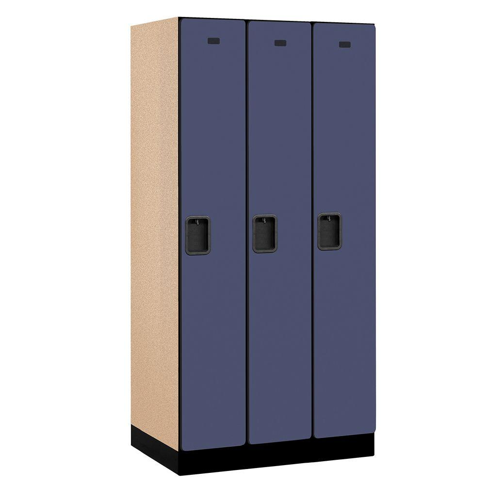 Salsbury Industries 31000 Series 36 in. W x 76 in. H x 21 in. D Single Tier Designer Wood Locker in Blue