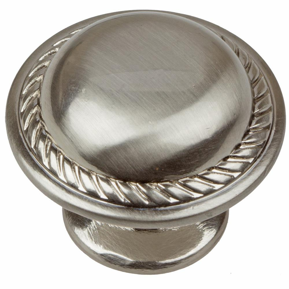 Superieur Dia Satin Nickel Round Rope Cabinet Knobs (