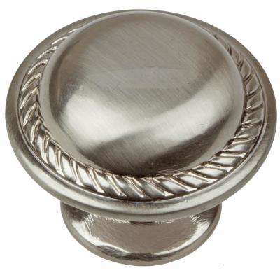 1-1/8 in. Dia Satin Nickel Round Rope Cabinet Knobs (10-Pack)