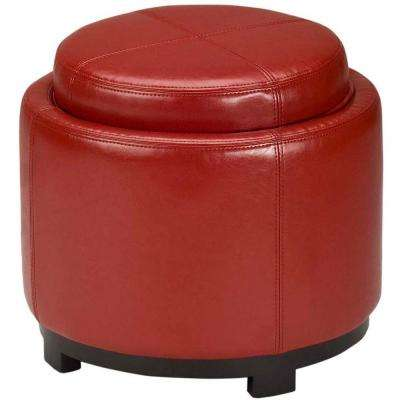 Chelsea Red Accent Ottoman