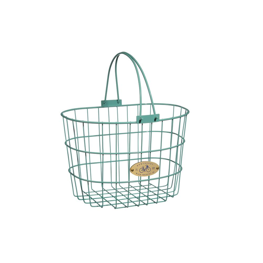 Surfside Adult Wire D-Shape Basket in Turquoise