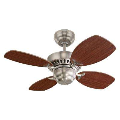 Colony II 28 in. Indoor Brushed Steel Ceiling Fan