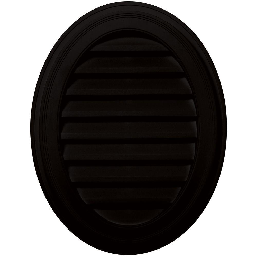 27 in. Oval Gable Vent in Black