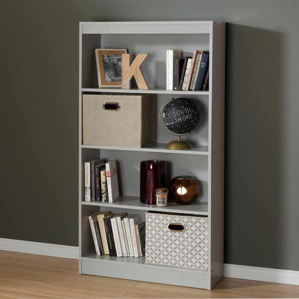 Axess Soft Gray Open Bookcase
