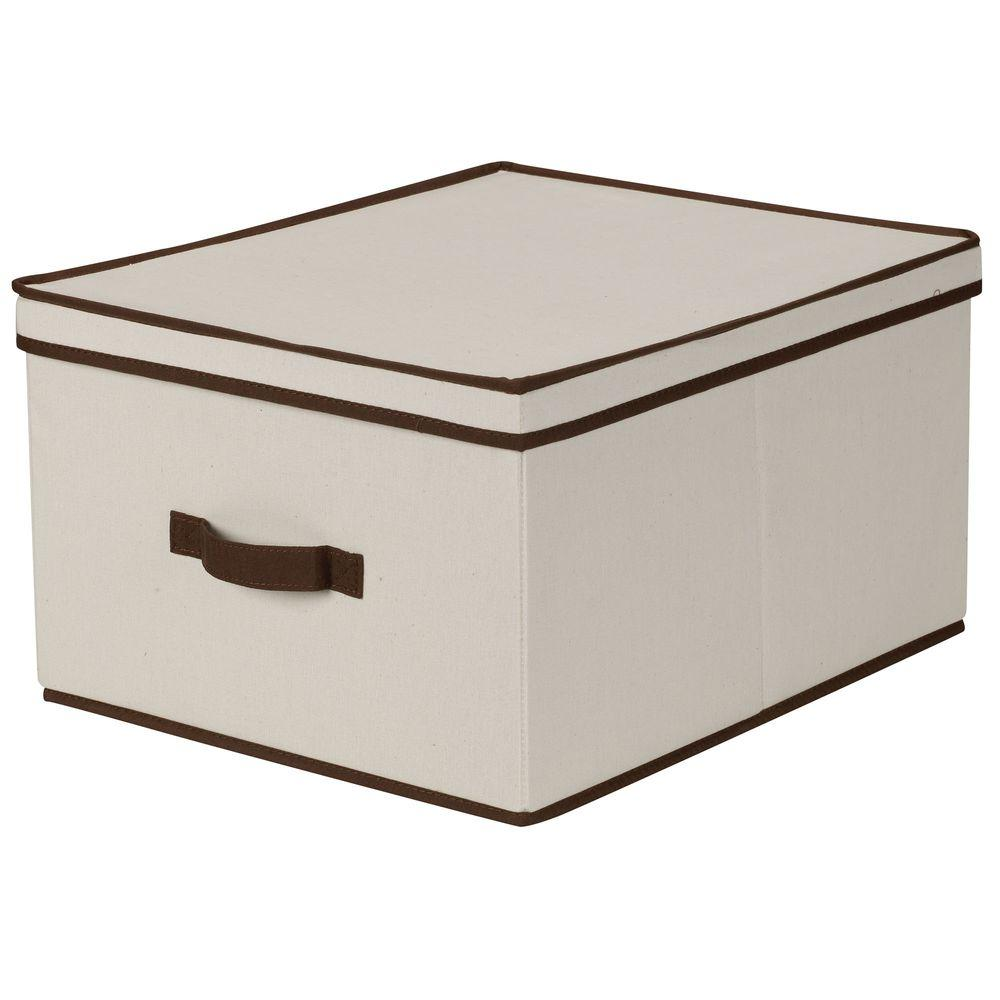Beau Natural Canvas With Brown Trim Jumbo Storage