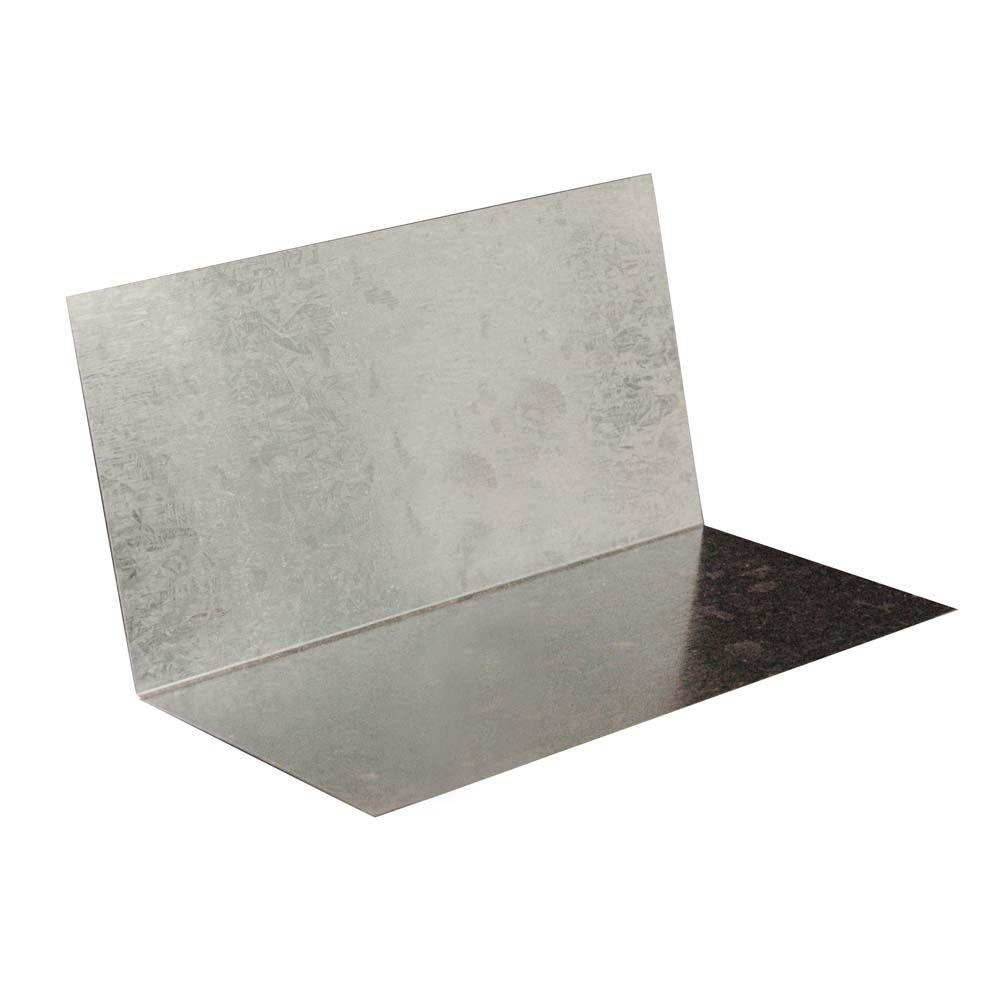 Gibraltar Building Products 4 In. X 4 In. X 8 In. Galvanized Steel Shingle  Step Flashing 12020   The Home Depot