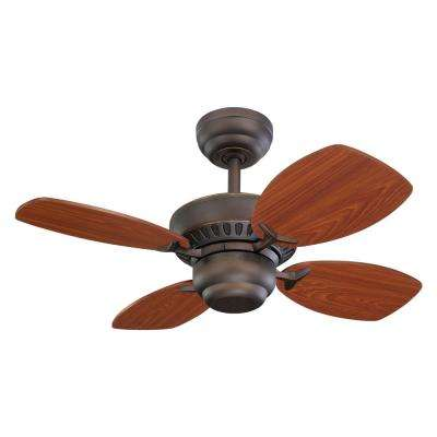 Colony II 28 in. Indoor Roman Bronze Ceiling Fan
