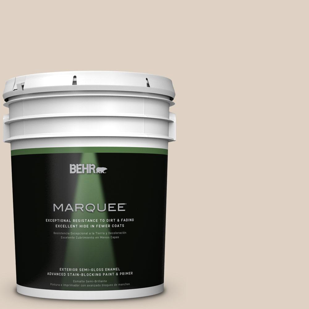 BEHR MARQUEE 5-gal. #PWN-42 Parisian Taupe Semi-Gloss Enamel Exterior Paint